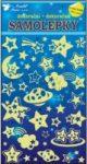Falmatrica - Fluoreszkáló égitestek - sötétben világító szobamatrica