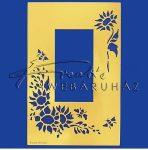 Kreatív hobby - Embossing sablon - Virág