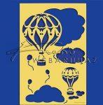 Kreatív hobby - Embossing sablon - Hőlégballon
