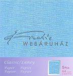 Kreatív hobby - Metál fényű papír - Égszínkék papír 120gr