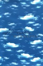 Kartonpapír - Felhő mintás karton, 5 lap