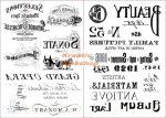 Kreatív hobby - Transzfer papír - Írás és Opera minta
