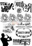 Kreatív hobby - Transzfer papír, 2 ív A4 - Zene minta