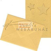 Meghívó készlet - Csillagos, arany paszpartu borítékkal - 5db