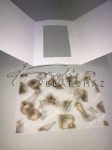 Boríték - Transzparens boríték - Karácsonyfadíszes, fehér - 3 db-os készlet