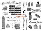 Kreatív hobby - Transzfer papír - Írószer minta