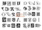 Kreatív hobby - Transzfer papír - Betűk minta