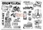 Kreatív hobby - Transzfer papír, 2 ív A4 - Utazás minta