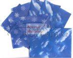 Kreatív hobby - Boríték - Transzparens boríték - Felhő és hópehely, kék - 6 db-os készlet