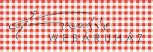 Kartonpapír - Piros - fehér, kocka mintás karton 31x21cm, 1 lap