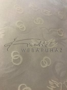 Transzparens papír - Gerle, gyűrű - Fehér - 10 lap