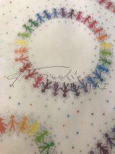 Transzparens papír - Mozaik gyerekek - 10 lap/csomag