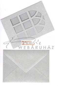 Meghívó készlet - Ablakos, metál paszpartu borítékkal