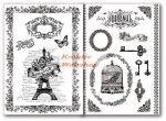 Kreatív hobby - Transzfer papír, 2 ív A4 - Eiffel torony minta