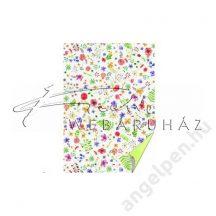 Transzparens papír - Apró színes virágok- 5 lap/csomag