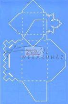 Boríték készítő sablon - Falevél mintás, műanyag