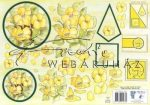 Sárga virágok kezdőknek Zöld szegéllyel, Fázisos 3D