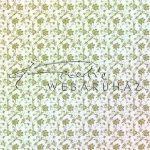 Kreatív hobby - Design Papír - Arany virágos - fehér színű, porcelán fényű  papír 120gr