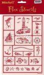 Kreatív hobby - Sablon - Tenger, stencil sablon