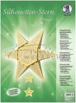 Origami - Csillag forma - Arany hajnal készlet, 16+1 db csillag
