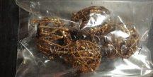 Vesszőlabda 2,5cm, csillámos bronz