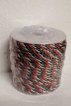 Piros-fehér-zöld selyem zsinór