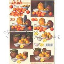Almás,narancsos csendélet, Fázisos 3D