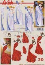 Karcsú hölgyek piros ruhában , Fázisos 3D