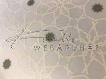 Transzparens papír - Arab mintás - Fehér, arany - 10 lap
