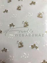 Transzparens papír - Harang, hangjegy - Aranyozott - 5 lap