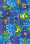 Kreatív hobby - Transzparens papír - Kék Mozaik