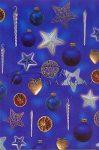 Kreatív hobby - Transzparens papír - Kék karácsonyfadíszek