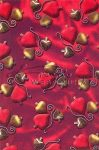 Kreatív hobby - Transzparens papír - Piros karácsonyfadíszek