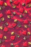 Transzparens papír - Piros karácsonyfadíszek
