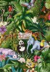 Kreatív hobby - Transzparens papír - Dzsungel