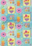 Kreatív hobby - Transzparens papír - Vidám virágok