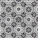 Kreatív hobby - Transzparens papír - Fekete- Fehér Csipkevirág