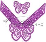 Kreatív hobby - Pillangós sarok motívum acél vágósablon