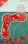 Kreatív hobby - Virágos, varható mintájú sarok motívum acél vágósablon