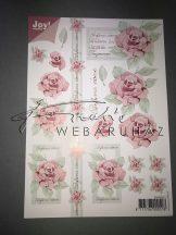 Rózsaszín rózsa, rózsaszín keret, Fázosos 3D