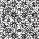Fekete - Fehér Csipkevirág, Karton