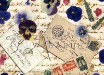 Albumpapír - Vintage Paper Block Régi levelezés - scrapbook papír