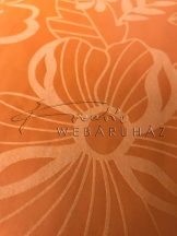 Bársonyos virág mintás papír - Narancssárga - 10 lap