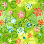 Kreatív hobby - Kartonpapír - Zöld színű Retro virág, Karton
