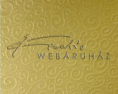 Domborított karton - Milánó arany metál színű - 1 lap, 20x30cm, 220gr