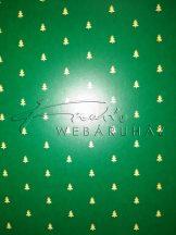 Kartonpapír - Karácsonyfa mintás zöld színű