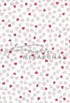 Kreatív hobby - Transzparens papír - Piros szív mintás