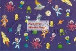 Kreatív hobby - Transzparens papír - Űrhajós