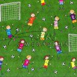 Kreatív hobby - Transzparens papír - Focizó gyermekek