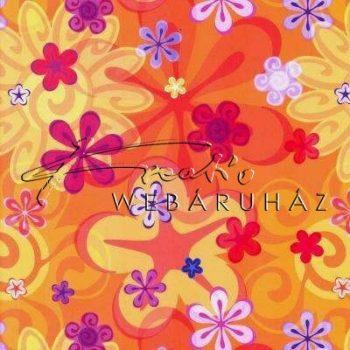 Transzparens papír - Narancs színű retro virág